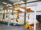5500 kg teherbírású tekercsszállító rendszer (Tatabánya)